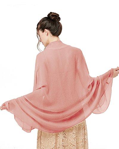 bridesmay Damen Strand Scarves Sonnenschutz Schal Sommer Tuch Stola für Kleider in 29 Farben Shell Pink