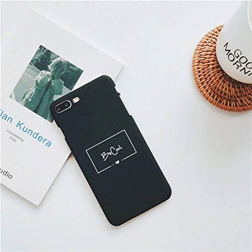 KDNNN Leuke Schilderij Grappige Engels Letter Telefoonhoesje voor IPhone 8 7 6 6s 6 Plus Ultra dunne Hard Plastic hoesje Back Cover, for i7 i8, Zwart