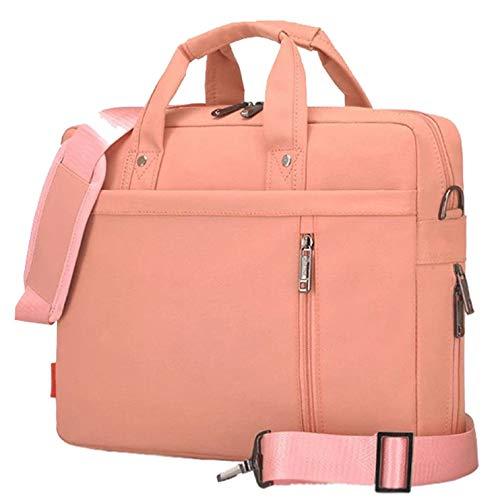 Bolso para Ordenador Portátil Maletín para Portátiles Bolsa de Hombro Funda para 17 Pulgadas Portátiles, Versión 3 Pink