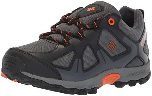 Columbia Garçon Chaussures de Randonnée, Imperméable, YOUTH PEAKFREAK XCRSN WP, Taille 33, Gris (Graphite, Heatwave)