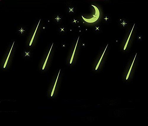 YHKQS Moon Stars Luminous Stickers muraux Autocollants muraux décoratifs en Bois Stickers et Meubles pour Enfants?C'est Le Prix de 3 Sets?