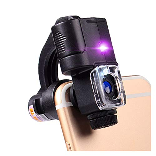 Carl Artbay Illuminated Magnifiers 90x with Led Light Uv Light iPhone Microscope Jewelry Jade Stamp Identification Tool Money Detector Magnifying Glass