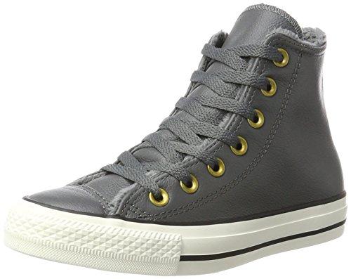 Converse Unisex-Erwachsene CTAS HI EGRET Hohe Sneaker, Grau (Thunder), 38 EU