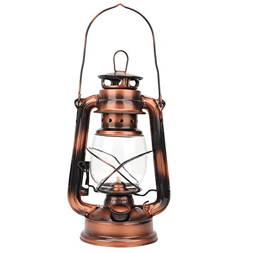 HEEPDD Olie Lamp Brandende Lantaarn, Kleine Orkaan Lantaarn Vintage Kerosene Lamp IJzeren Lantaarn Nacht Licht Decoratie Gift Bronzen Olie Brandende Lantaarn