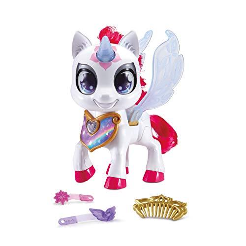 Vtech 80-530804 Sparklings Liora unicornio electrónico mascota con accesorios, Version Alemana