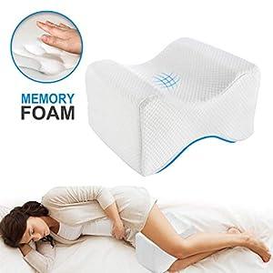 BHGWR Almohadas para piernas para Dormir, Cojín para Almohada con de Memoria para durmientes de Lado, Almohada de Apoyo…