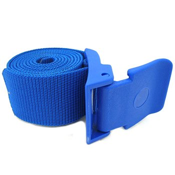 IST Nylon Webbing Diving Weight Belt, Plastic Fold Over Buckle (Blue)
