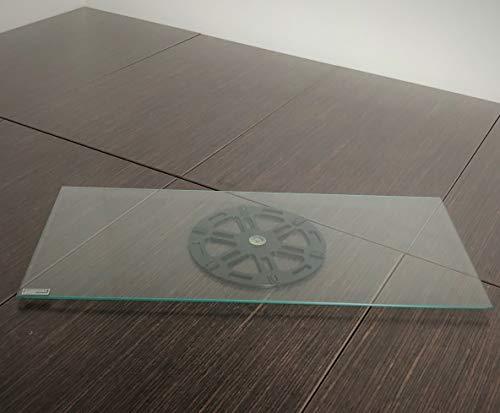 Tecnidea Base de TV giratoria, también para PC, de cristal templado transparente, dimensiones 55 x 25 cm, -GK 55P