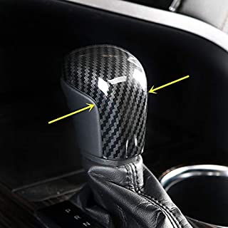 ZiWwen Sport Style Carbon Fiber Print Gear Shift Knob Cover Trim for Toyota Camry 2018 2019 Avalon 2019 Corolla Hatchback 2019