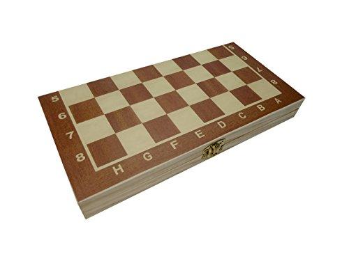 CT Schach Dame Backgammon Spielbrett 3 in 1 in Klappbox aus Holz (24 cm)