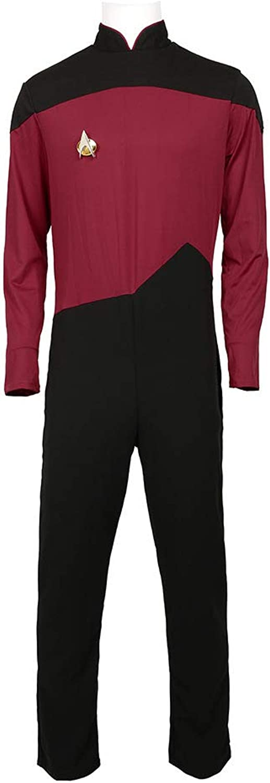 KOUYNHK Star Trek TNG Costume Cosplay Garçon,rouge-XXXL