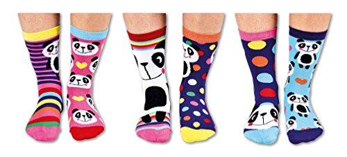 socks Verrückte Oddsocks Pandamonium für Mädchen im 6er Set