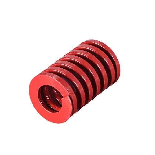 20 mm OD 30 mm lang Spirale Prägung Kompressionsform für mittlere Belastung, Rot, 1 Stück