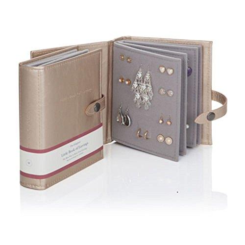 Das Kleine Buch der Ohrringe - Hält 48 Paar Ohrringe auf 4 Seiten - (Farbe Gold)
