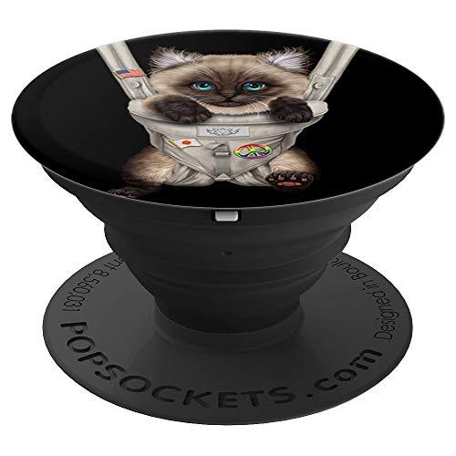 Gato siamés en portabebé PopSockets Agarre y Soporte para Teléfonos y Tabletas