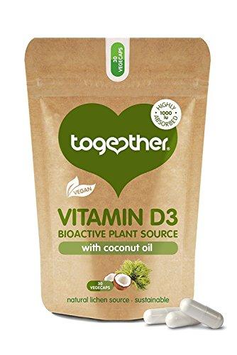 (2 Pack) Together Vegan Vitamin D3-30 Vegecaps