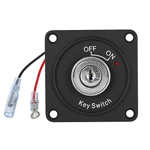 CAIZHIXIANG Interruptor de CC 12V 10A del Interruptor de Encendido 2 Posición Tecla ON/Off con el Interruptor 2 Botones de Inicio del Panel for el Coche del Carro del Barco