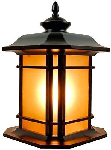 PHONG Europäische Klassik Nostalgie Außenwand Säule Lampe Gartenterrasse im Innenhof Säule Lampe E27 Dekorative Beleuchtung Europäischen Wasserdichtes Zaun Garten Torpfosten Licht (Color : Small)