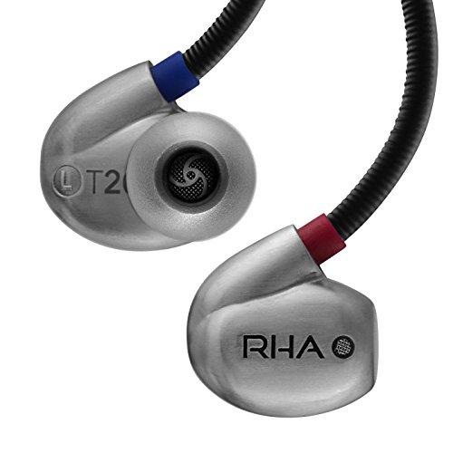 RHA T20: Haute Fidélité Isolant du Bruit Dualcoil Écouteurs Intra-Auriculaires avec Filtres D'accordage