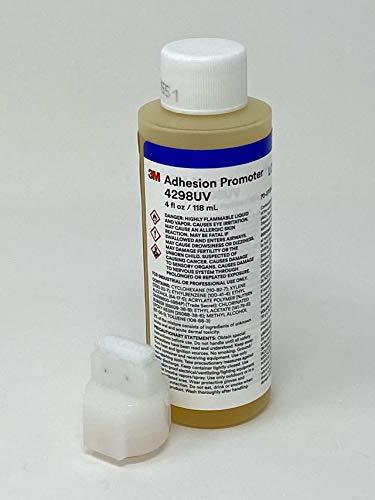 """3M 4298UV Adhesion Promoter - Tape Primer 4 fl oz / 118 ml Bottle with 0.750"""" x 0.312"""" Felt Tip Applicator"""