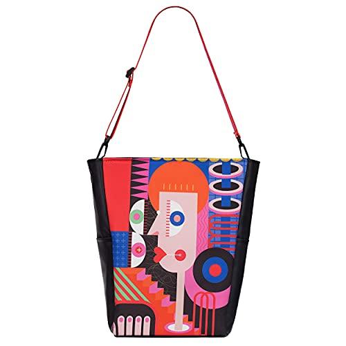 Maula Art Bag Damen Umhängetasche Laptoptasche Groß Handtaschen zum umhängen.Women Shopper Bag XXL Gross Tote Bag. Damen Sportlich Tasche Laptop Reisetasche Weekender Schultertasche Frauen Geschenke