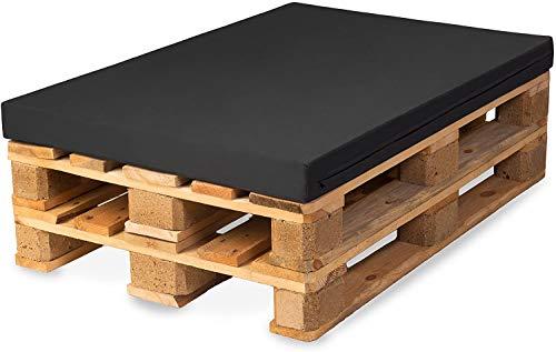 TexDeko - Cojín para sofá de palé M-XL, altura de acolchado confort Plus, acolchado para palés, impermeable, espuma para europalés