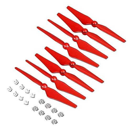 Elica a basso rumore 8pcs 9450s Elica for DJI Phantom 4 Pro Advanced Drone Quick Sleep Stups Blade Ala Ventilatori Ricambi Accessorio sostitutivo Lama del drone (Color : Red)