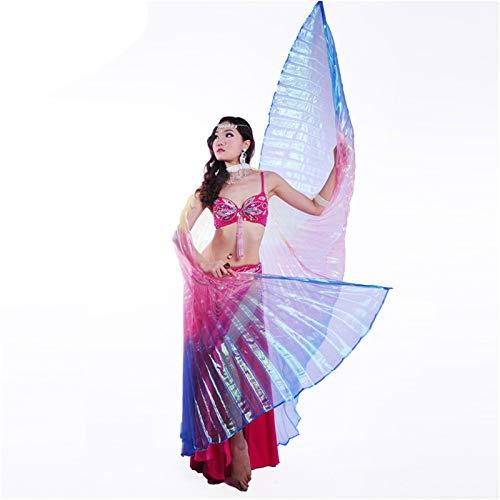 SUKDO Alas De Danza del Vientre para Mujer, Alas De ngel, Alas De ISIS, Accesorios para Disfraces De Baile De Rendimiento