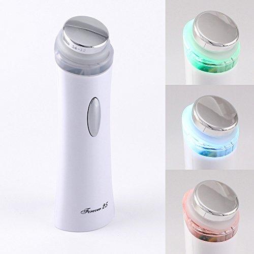 Forever25 SUPERSONIC Portabel Kosmetisches Ultraschallgerät mit Farblichtindikator für Körper und Gesicht, anti Falten anti-aging, Akne, Hautstraffung, Ultraschall, Massagegerät