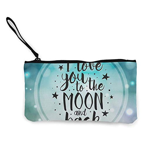 XCNGG Geldbörsen Shell Aufbewahrungstasche Women's Wristlet Wallet Clutch for Smartphones with Wrist Strap Card Coin Purse Case - Love You to The Moon and Back