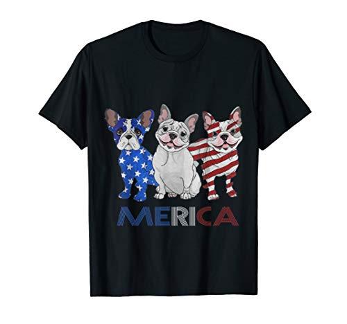French Bulldog USA 4th of July American Frenchie Men Women T-Shirt
