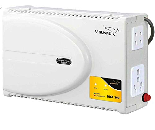 "V-Guard Digi 200 Supreme TV Voltage Stabilizer for up to 178 cm (70"") TV+ Set top box+Home Theatre System (Working Range: 140-295 V; 6 A)"