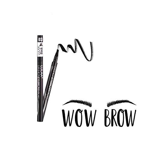 Pamura - Wow Brow - Augenbrauenstift wasserfest - wischfest - schweißresistent - Tattoo Augenbrauenstift - Microblading Augenbrauenstift - Permanent Make Up - 4Punkt Spitze - Schwarz