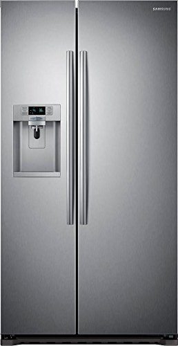 Samsung RS22HDHPNSR Energy Star 22.3 Cu. Ft. Counter-Depth Side-by-Side Refrigeratorr/Freezer with External Water/Ice Dispenser and In-Door Ice Maker, Stainless Steel