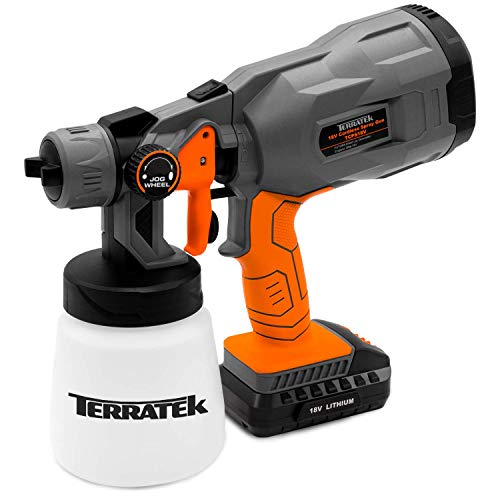 Terratek 18V Max Cordless Electric Spray Gun Fence Sprayer, 700ml...