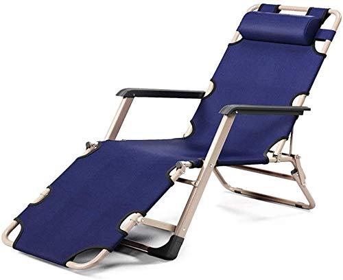 HaoLi Sillas de jardín, sillones reclinables, sillón reclinable Resistente, Silla Plegable de Gravedad Cero para Exteriores para jardín, terraza, Piscina, Playa, admite 440 Libras, Tumbona