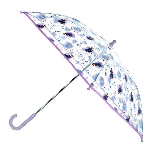 Textiel Trade Disney Frozen Elsa und Anna Regenschirm für Kinder, transparent Gr. One size, violett