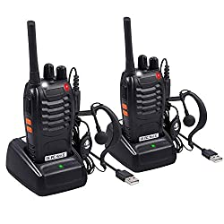 professional Neoteck 2 PCS FRS 462MHz transceiver, rechargeable 16-channel 2-way long-range radio …