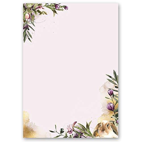 20 Blatt Briefpapier BLUMENNEST - DIN A4 Format - Blumen & Blüten