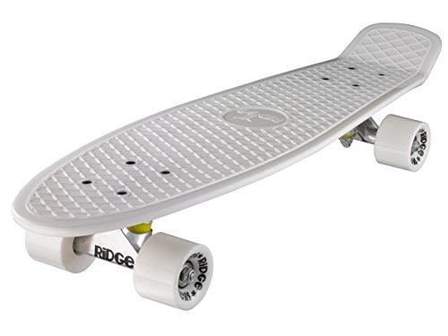 Ridge Skateboard Big Brother Nickel 69 cm Mini Cruiser, weiß/weiß