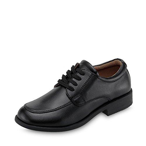 Indigo 431 123 005 chłopięce buty komunijne z imitacji skóry z podszewką z imitacji skóry, czarny - czarny - 33 EU