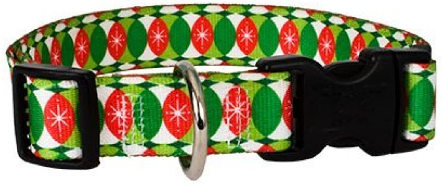 Christmas Cheer Dog Collar  Size Cat 8  to 12  Long  Made in The USA