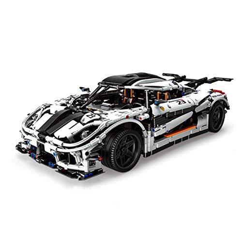 TETAKE Technik Sportwagen Modellbausatz mit 3063 Teile, 1/8 Super Rennauto Modell zu Bauen, Klemmbausteine Konstruktionsspielzeug Kompatibel mit Anderen Marken