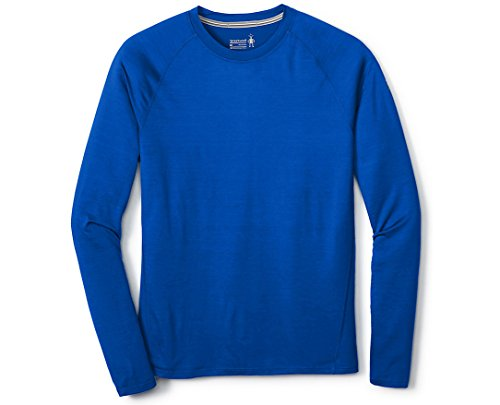 Smartwool Men's Base Layer Top - Merino 150 Wool Active Long Sleeve Bright Blue - Past Season X-Large