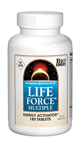 Source Naturals Life Force Multiple Iron Free Daily Multivitamin High Potency Essential Vitamins, Minerals, Antioxidants & Nutrients - Energy & Immune Boost - 180 Tablets
