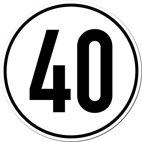 Aufkleber Sticker 40 kmh km/h 20cm Schild Geschwindigkeit für Traktor Schlepper Zugmaschine Multicar Anhänger Fahrzeug (1)