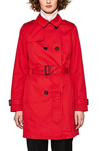 ESPRIT Damen 127EE1G009 Mantel, Rot (Red 630), Small
