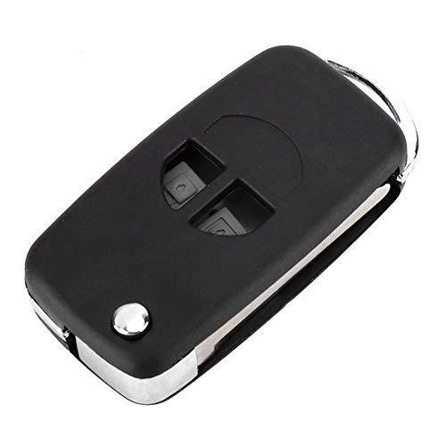 ROSEBEAR Carcasa para llave de coche con 2 botones para S-UZUKI S-WIFT G-RAND V-ITARA A-LTO