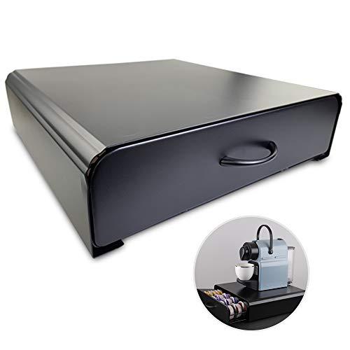 JJ PRIME 64 Stück Kaffeepads Halter aufbewahrung Organizer Schublade Kompatibel für Tassimo regal schwarz