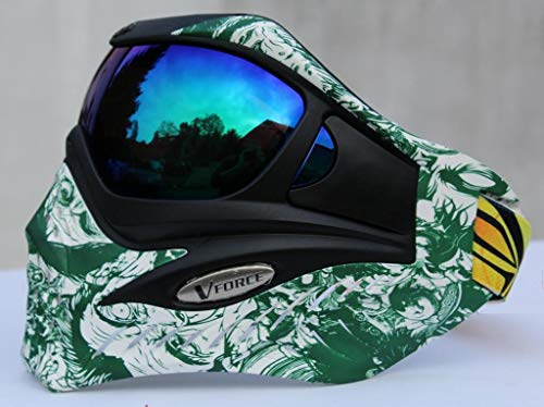 VForce Grill Paintball Maske Zombie Green HDR Thermal Glas